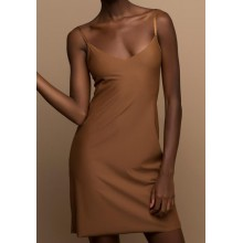 Nubian Skin Full Slip Dress